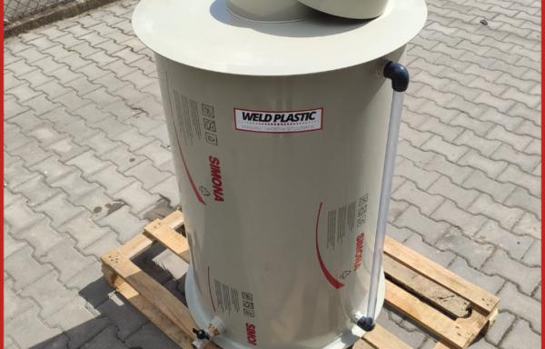 Zbiornik cylindryczny z tworzywa sztucznego PP